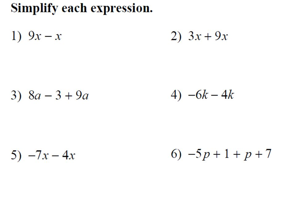 Underline any Variable Terms. Circle any Constants. 1