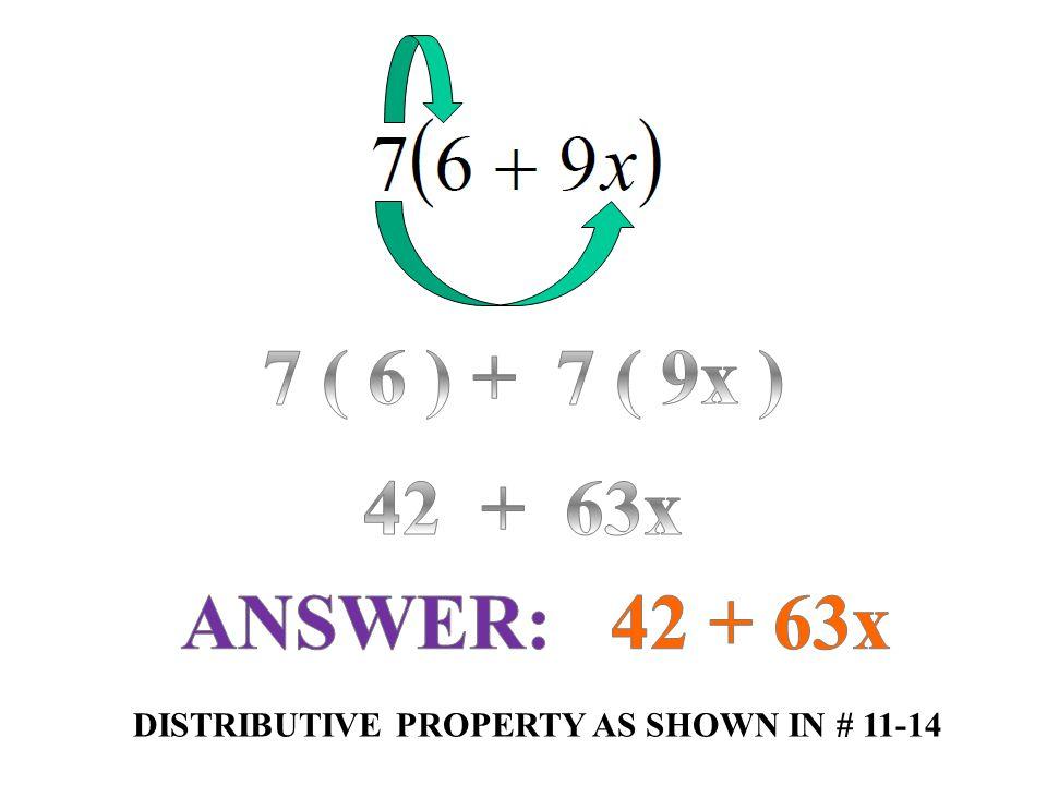 CLASSWORK GUIDED PRACTICE 9.26.13 NAME:____________________________________ 8x 12x 17a – 3 - 10k -11x -4p + 8 -2n + 6 6m + 1 -1r 4x + 11 -8n - 64 -27 – 24b 8v + 16 18x + 42