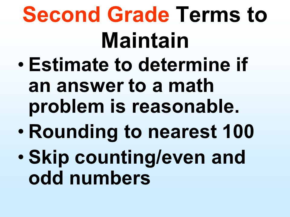 Estimate to determine if an answer to a math problem is reasonable.