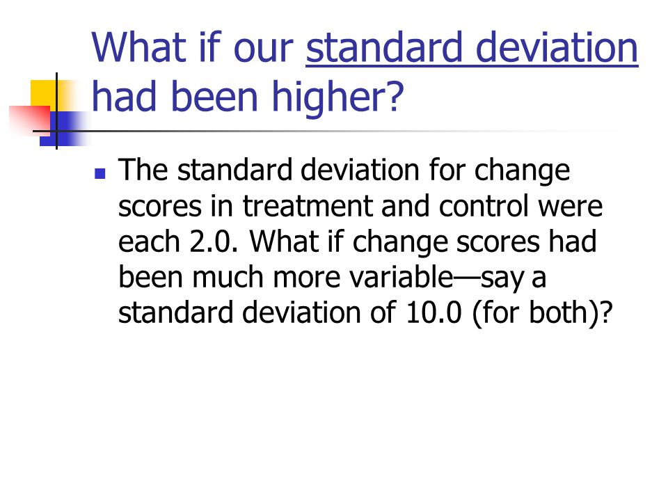 What if our standard deviation had been higher.