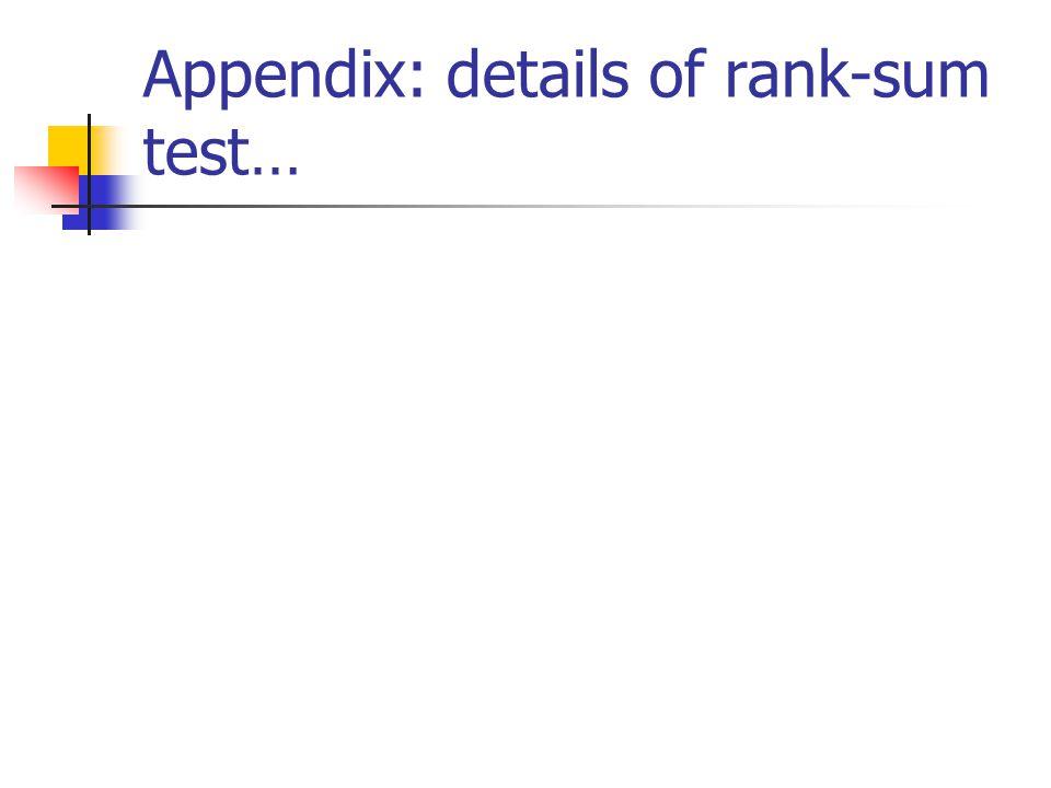 Appendix: details of rank-sum test…
