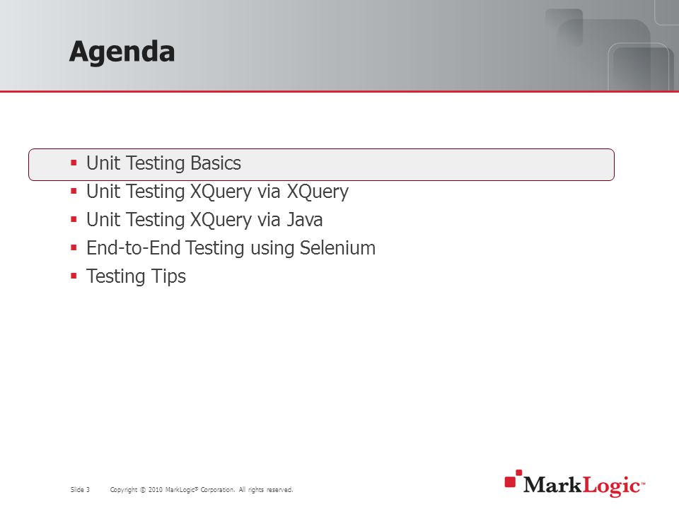 Slide 54 Copyright © 2010 MarkLogic ® Corporation.