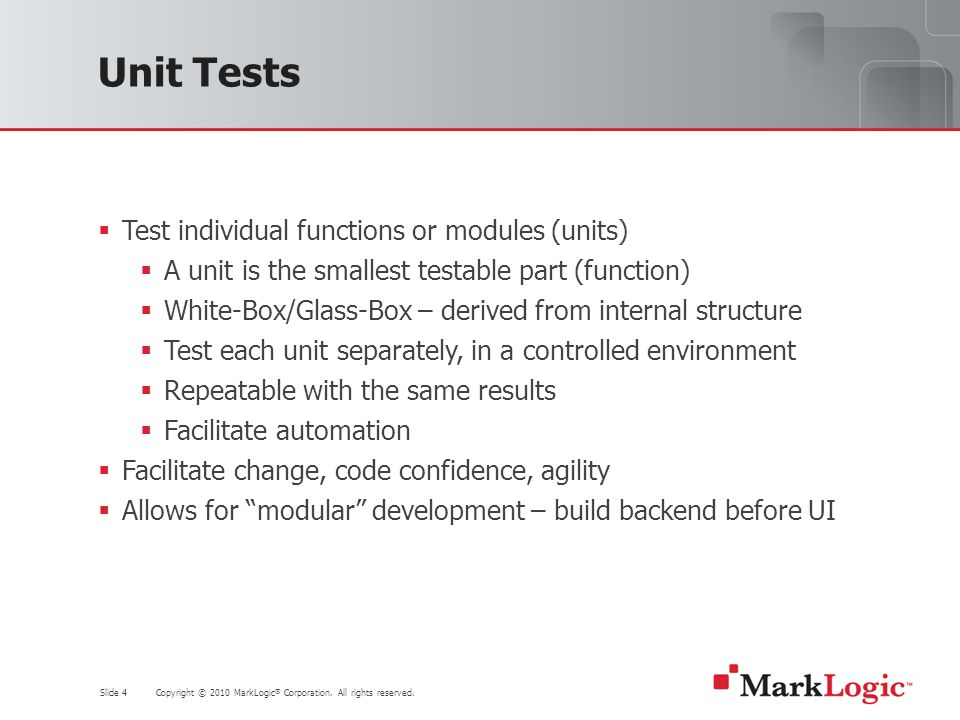 Slide 25 Copyright © 2010 MarkLogic ® Corporation.
