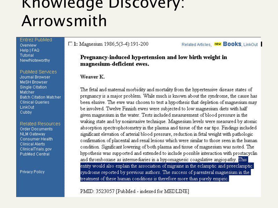 14 Knowledge Discovery: Arrowsmith