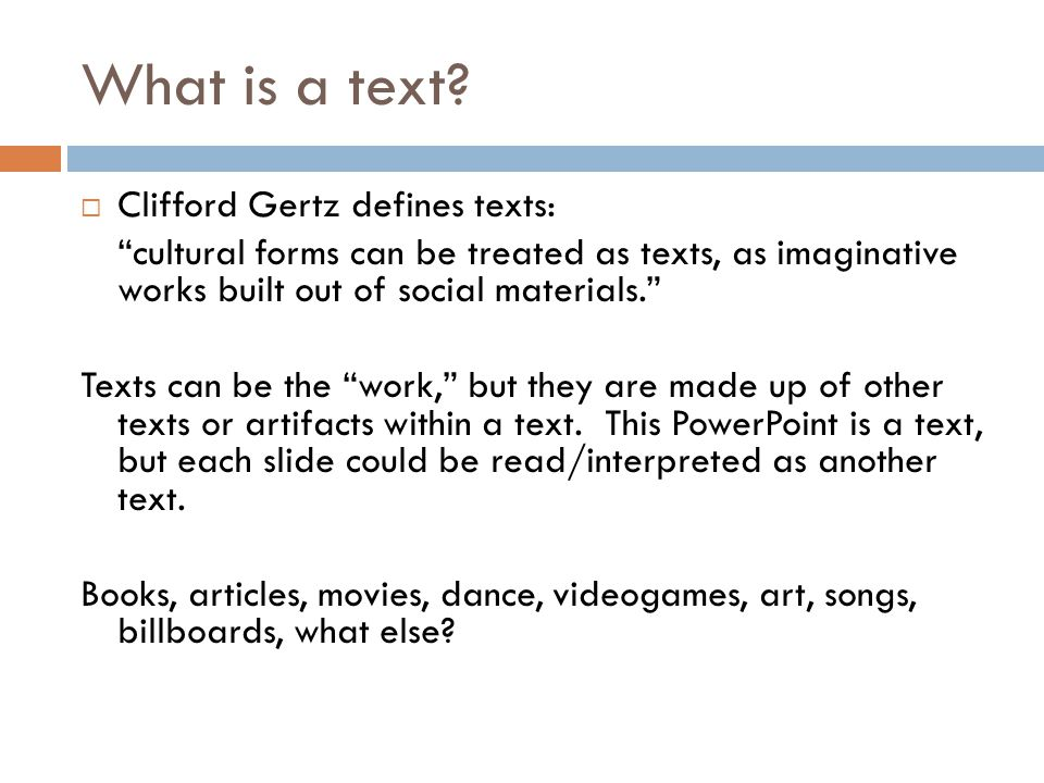 What is a text.