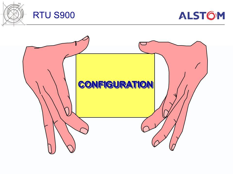CONFIGURATIONCONFIGURATION RTU S900