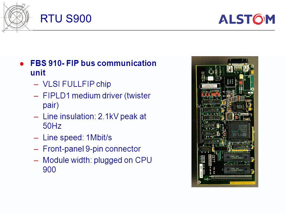 FBS 910- FIP bus communication unit –VLSI FULLFIP chip –FIPLD1 medium driver (twister pair) –Line insulation: 2.1kV peak at 50Hz –Line speed: 1Mbit/s