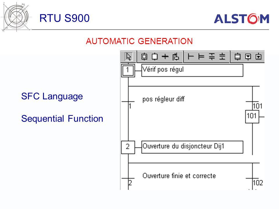 SFC Language Sequential Function RTU S900 AUTOMATIC GENERATION