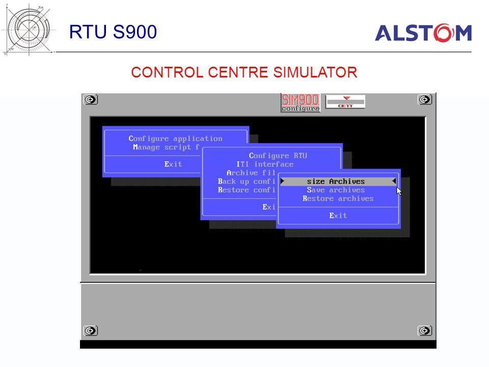 RTU S900 CONTROL CENTRE SIMULATOR