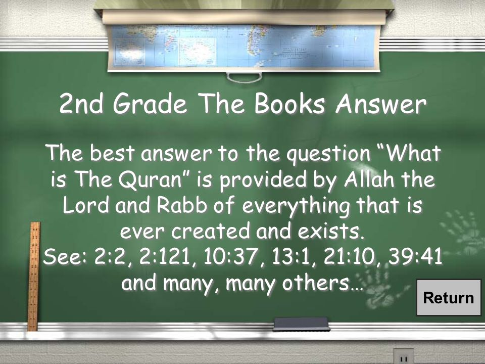 2nd Grade The Books Question What is The Quran