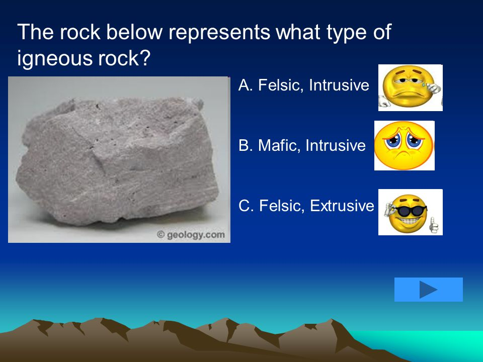 All igneous rocks originally start as _______. A. Other rocks B. Magma C. Sediments