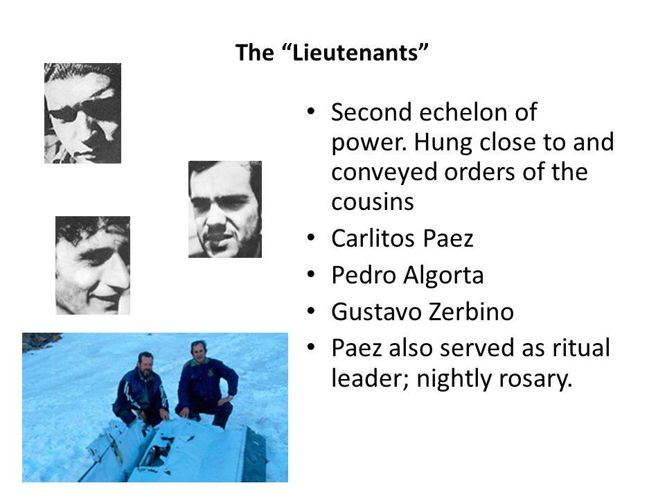 The Lieutenants Second echelon of power.