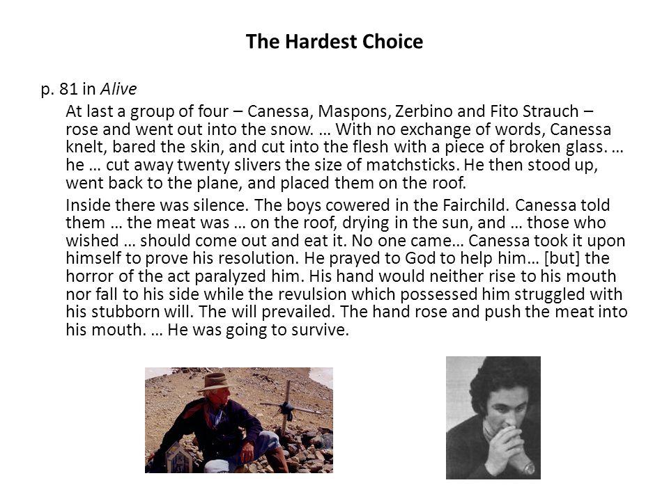The Hardest Choice p.