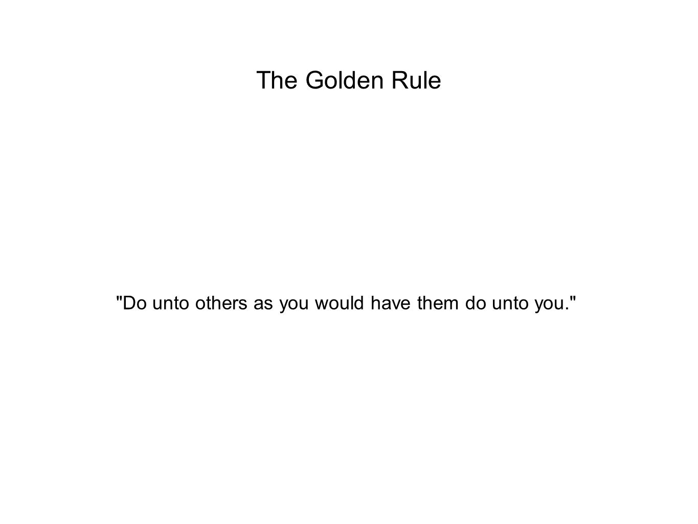 The Leaden Rule Do to others as they do to you!