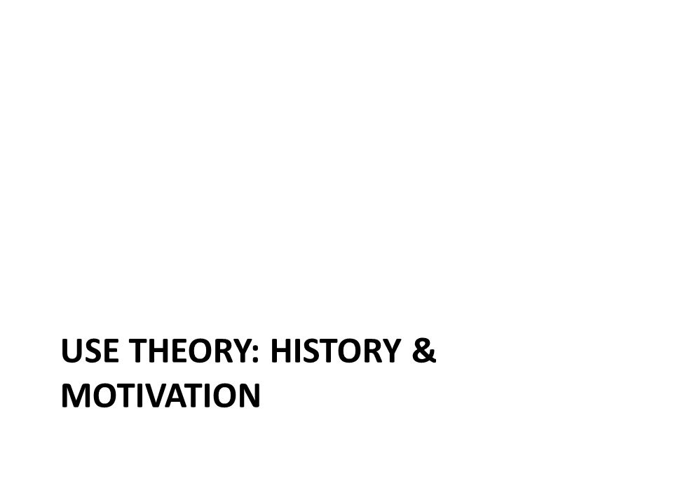 The Causal-Historical Theory Last time we learned about the causal-historical theory of reference.