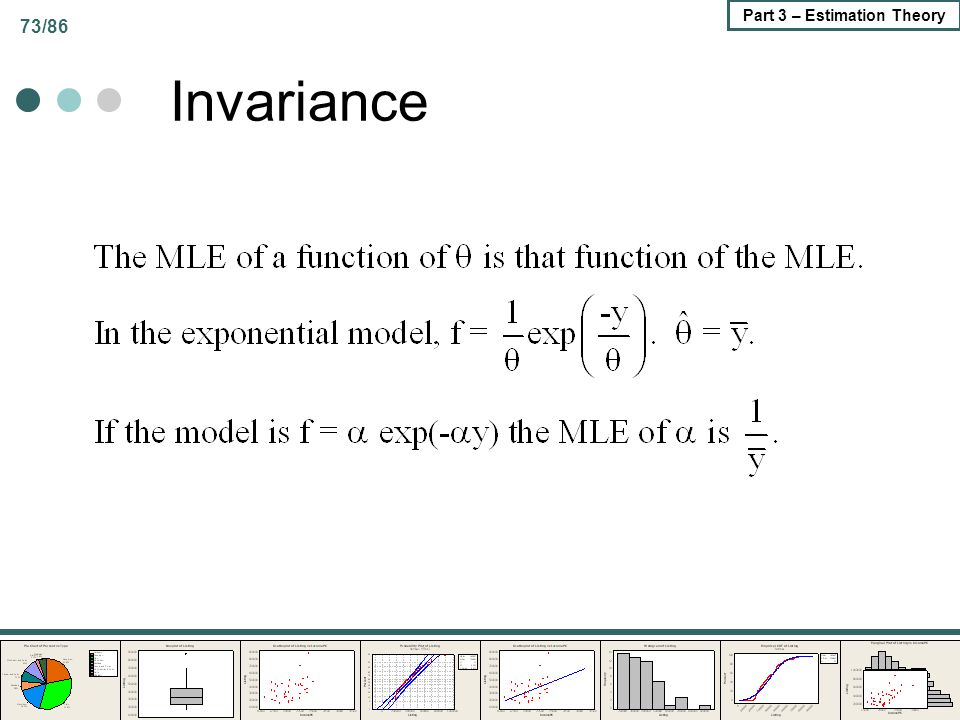 73/86 Part 3 – Estimation Theory Invariance