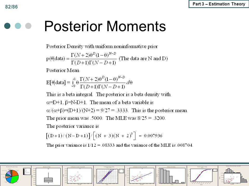 82/86 Part 3 – Estimation Theory Posterior Moments