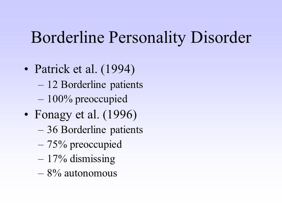 Borderline Personality Disorder Patrick et al.