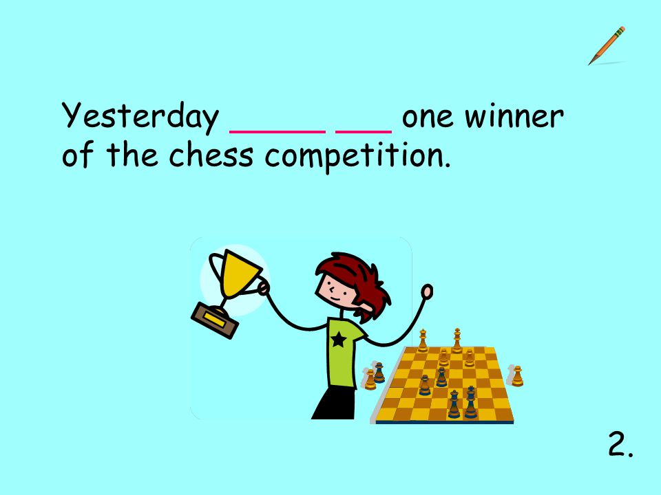 Yesterday one winner of the chess competition. 2.