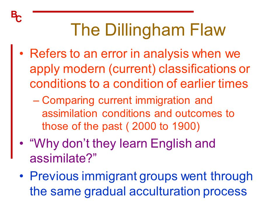 What is the Dillingham Flaw described in layman's terms?