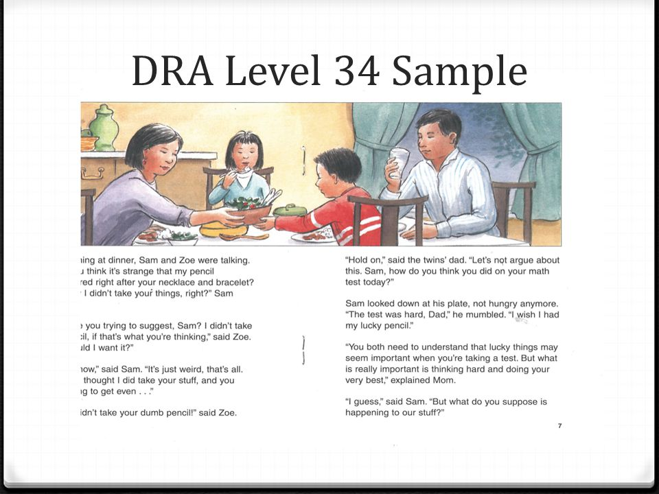 DRA Level 34 Sample