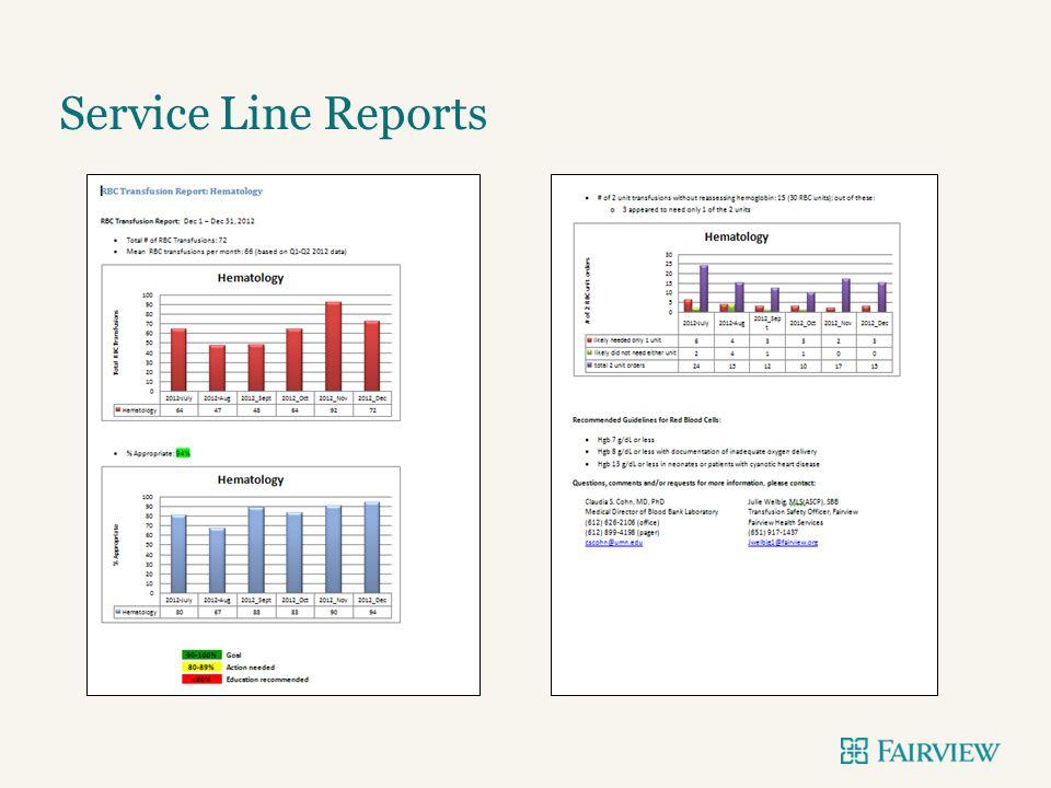 Service Line Reports