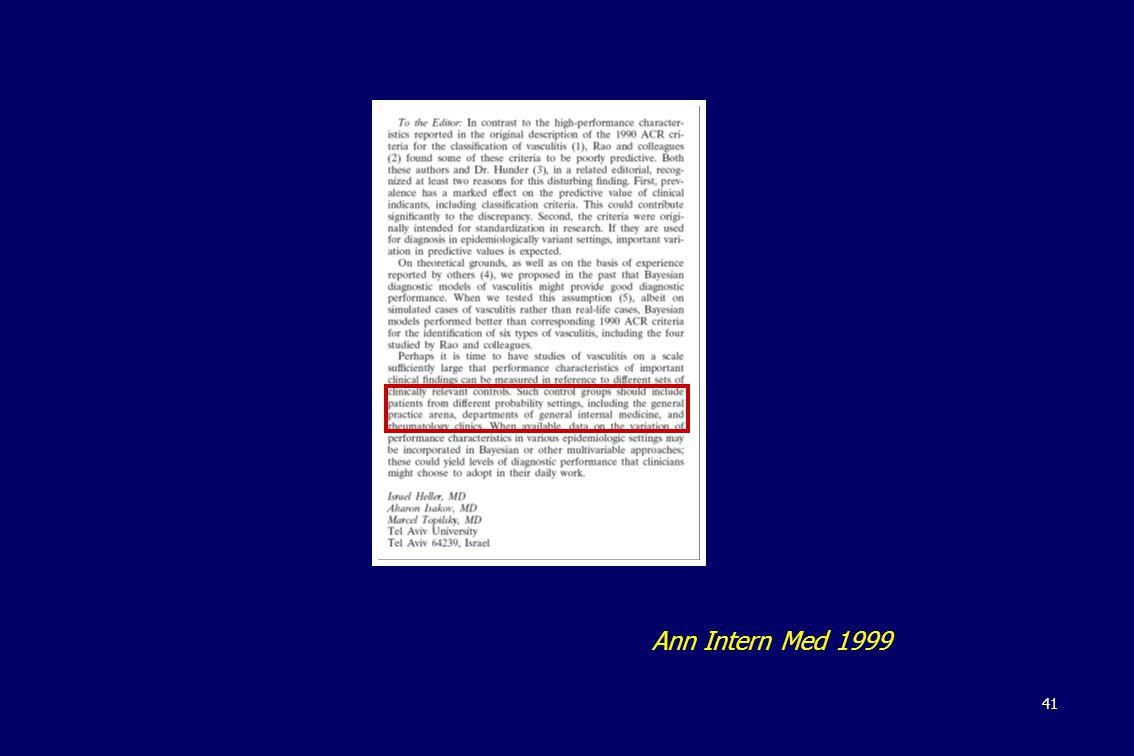 41 Ann Intern Med 1999