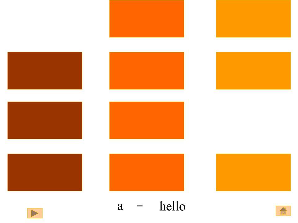 hello a a =