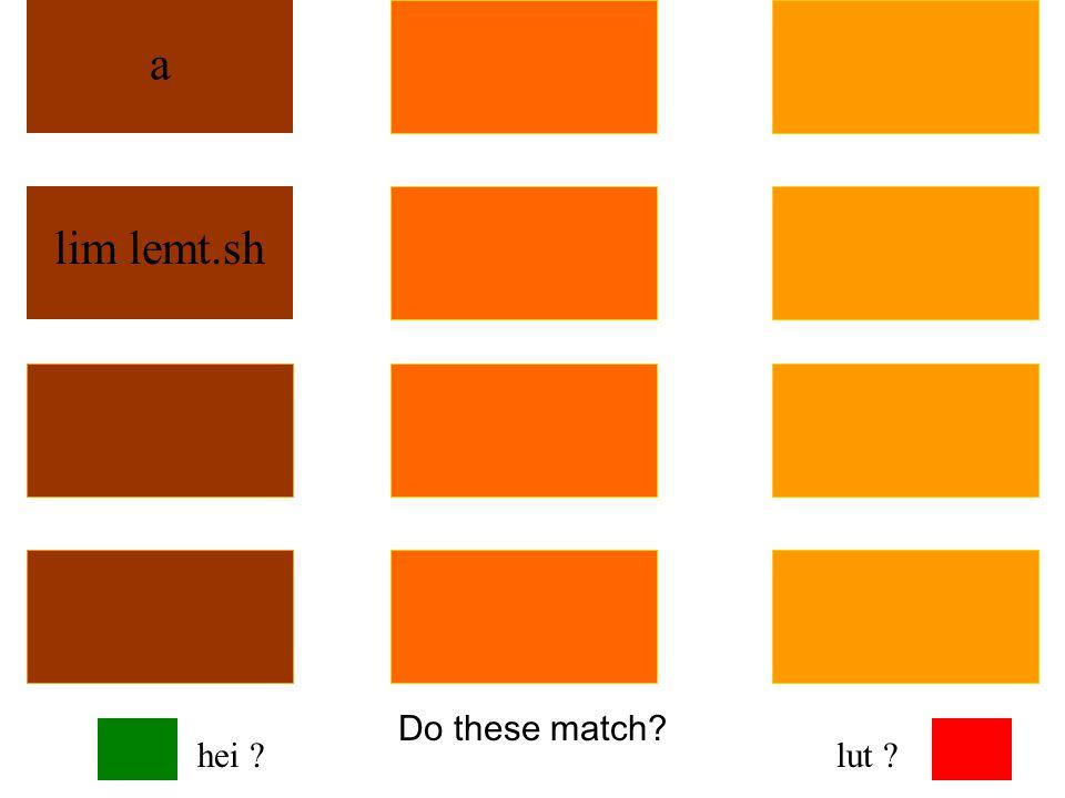 Do these match? a lim lemt.sh hei ?lut ?