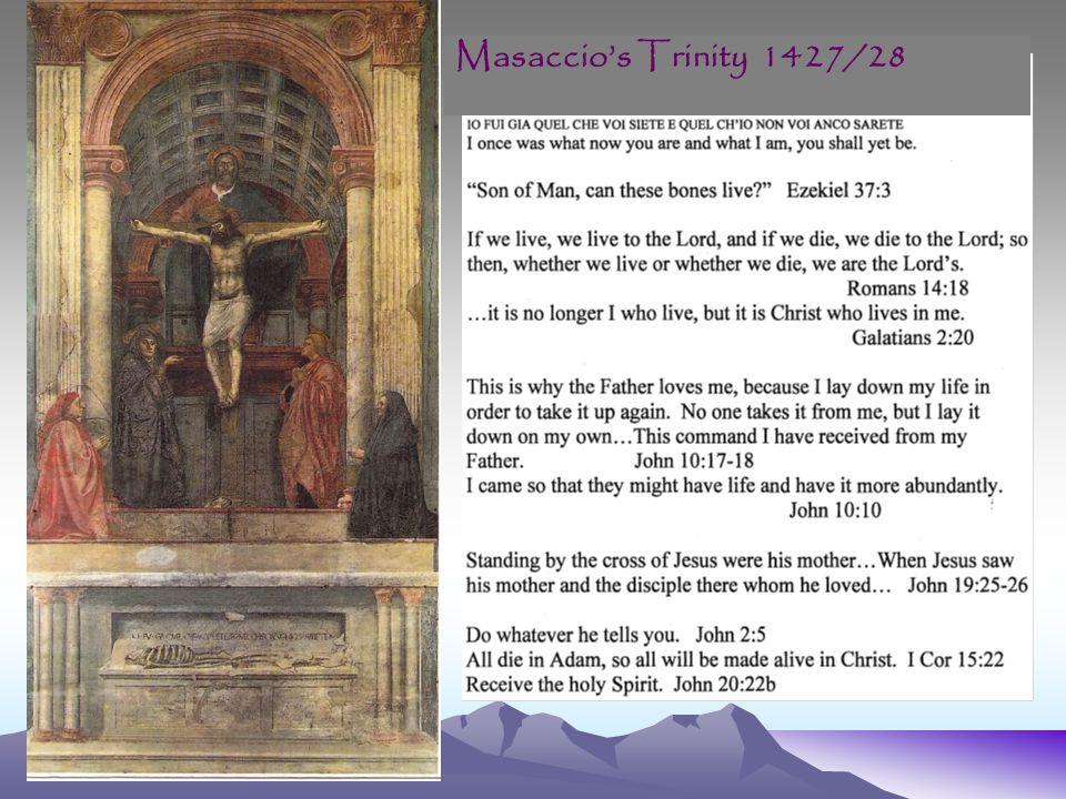 Masaccio's Trinity 1427/28
