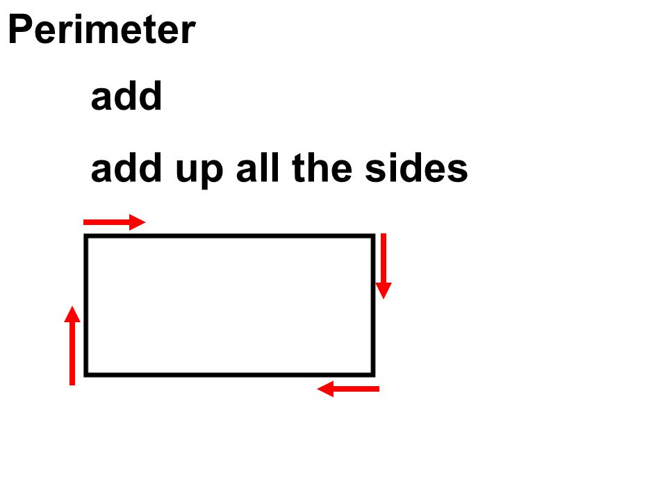 Perimeter add up all the sides add