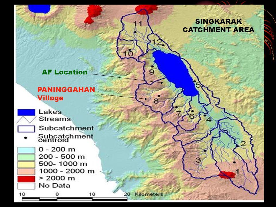 Slopes PANINGGAHAN Village SINGKARAK CATCHMENT AREA AF Location