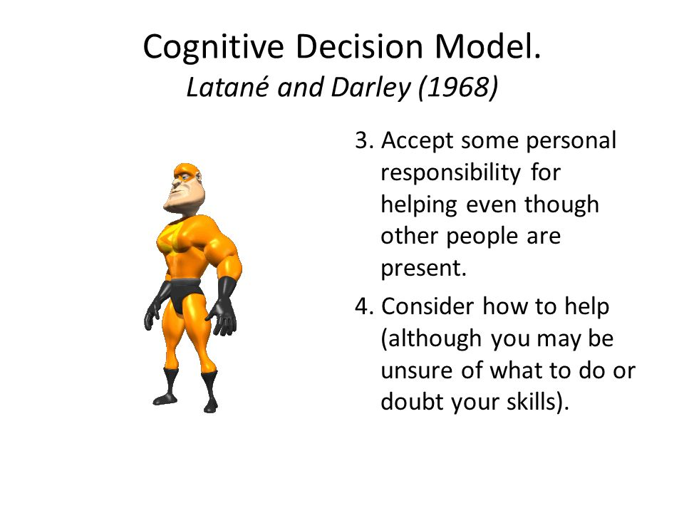 Cognitive Decision Model. Latané and Darley (1968) 3.