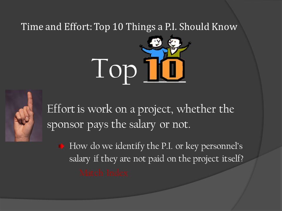 Time and Effort: Top 10 Things a P.I.