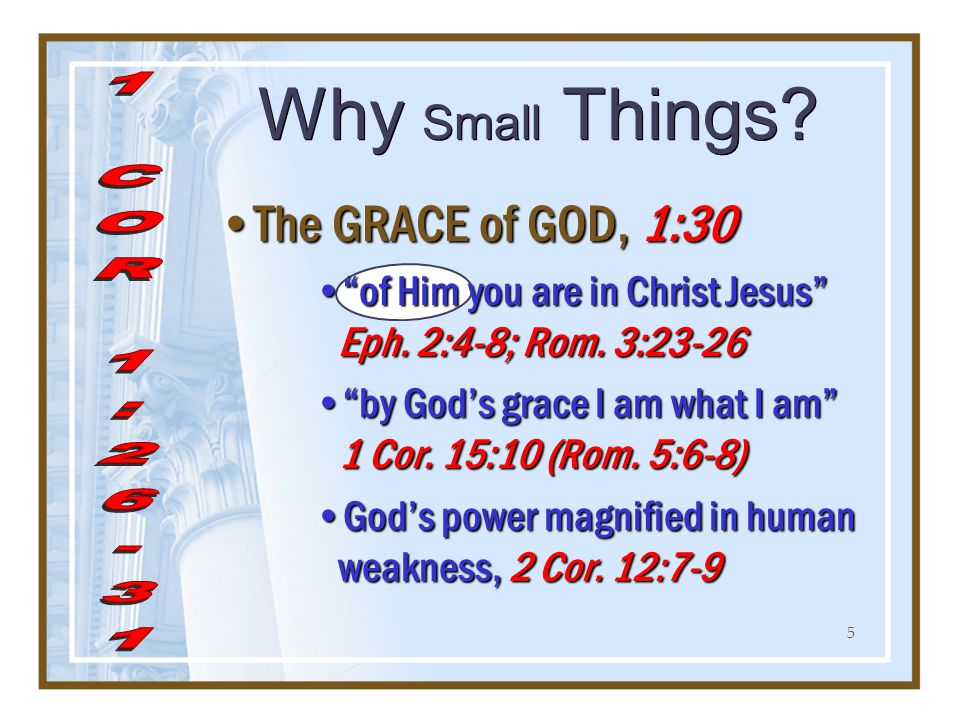 6 Why Small Things.HOPE & TRUST are in GOD, 1:30 (2 Cor.
