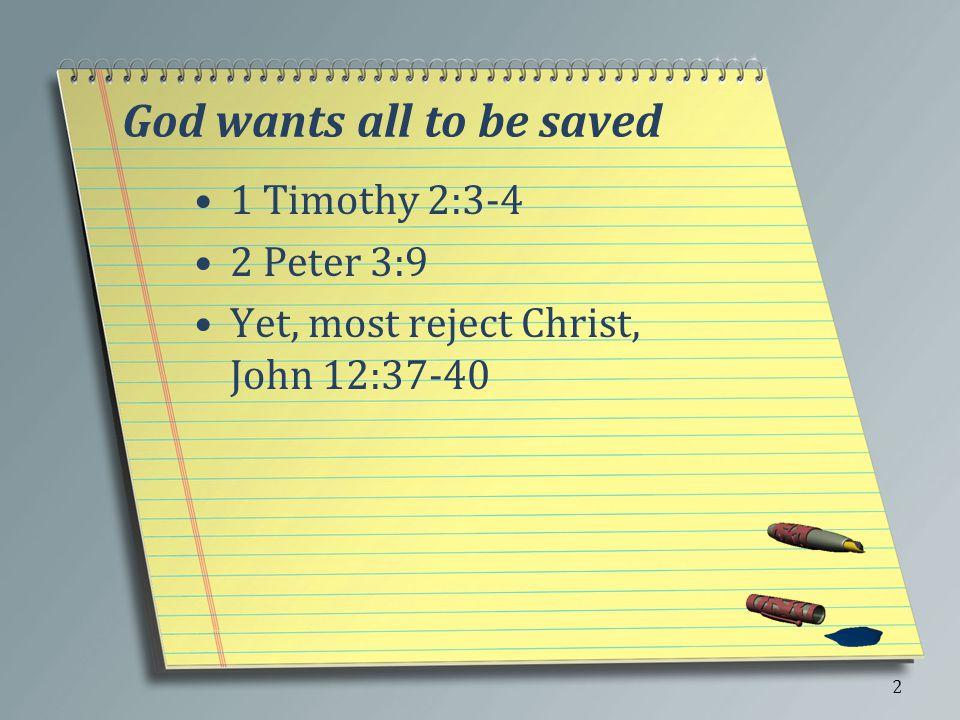 A Few Things Jesus said few are saved, Matt. 7:13-14 3