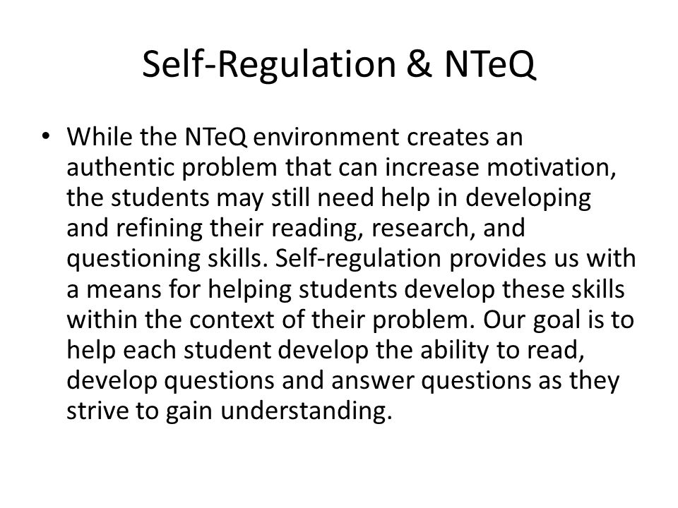 Strategies for Self-Regulation The goal with Think Sheets is to help the learner understand the content by using appropriate inquiry skills.