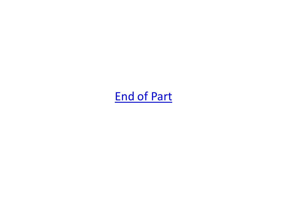 End of Part
