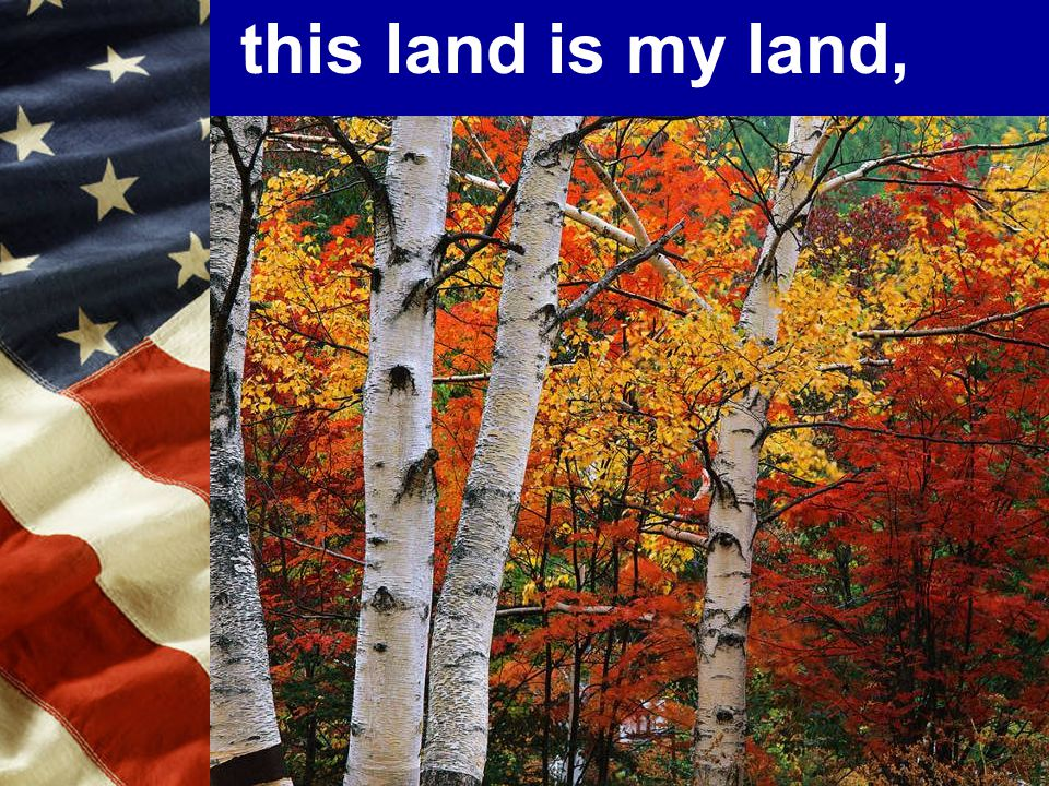 this land is my land,