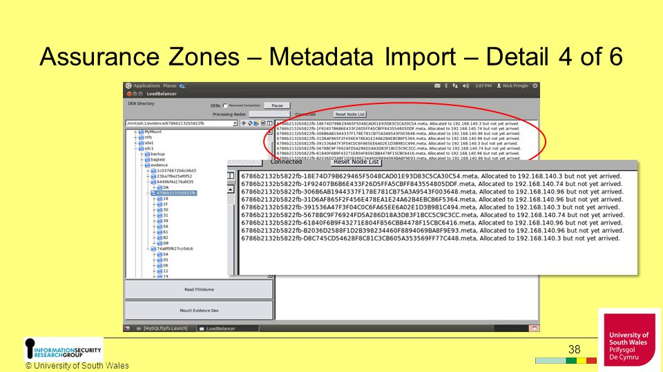 © University of South Wales 37 Assurance Zones – Metadata Import – Detail 3 of 6