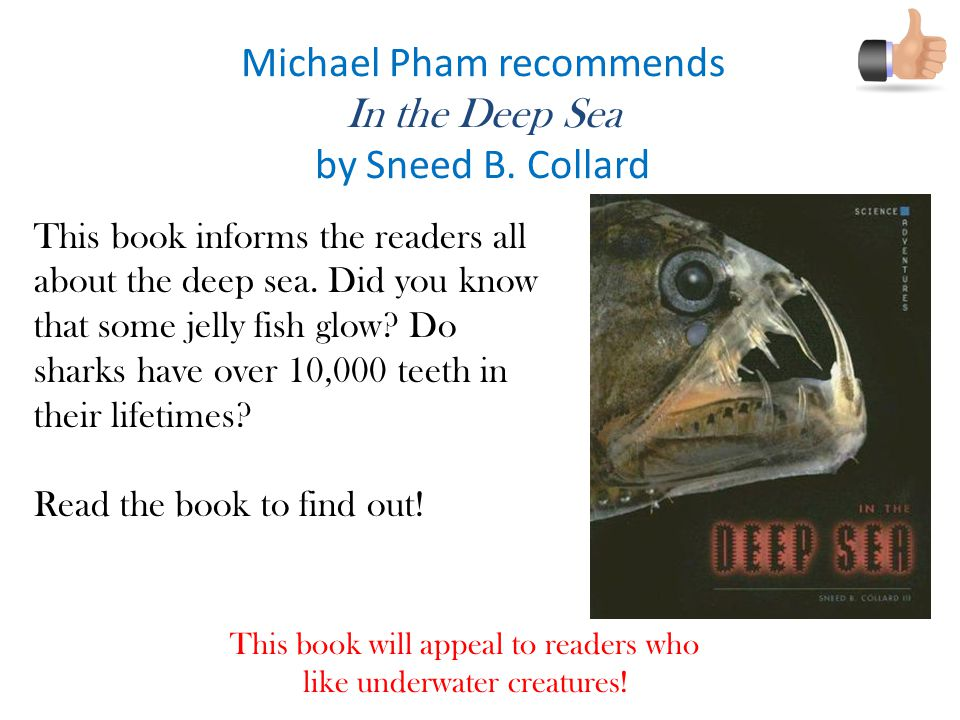 Michael Pham recommends In the Deep Sea by Sneed B.