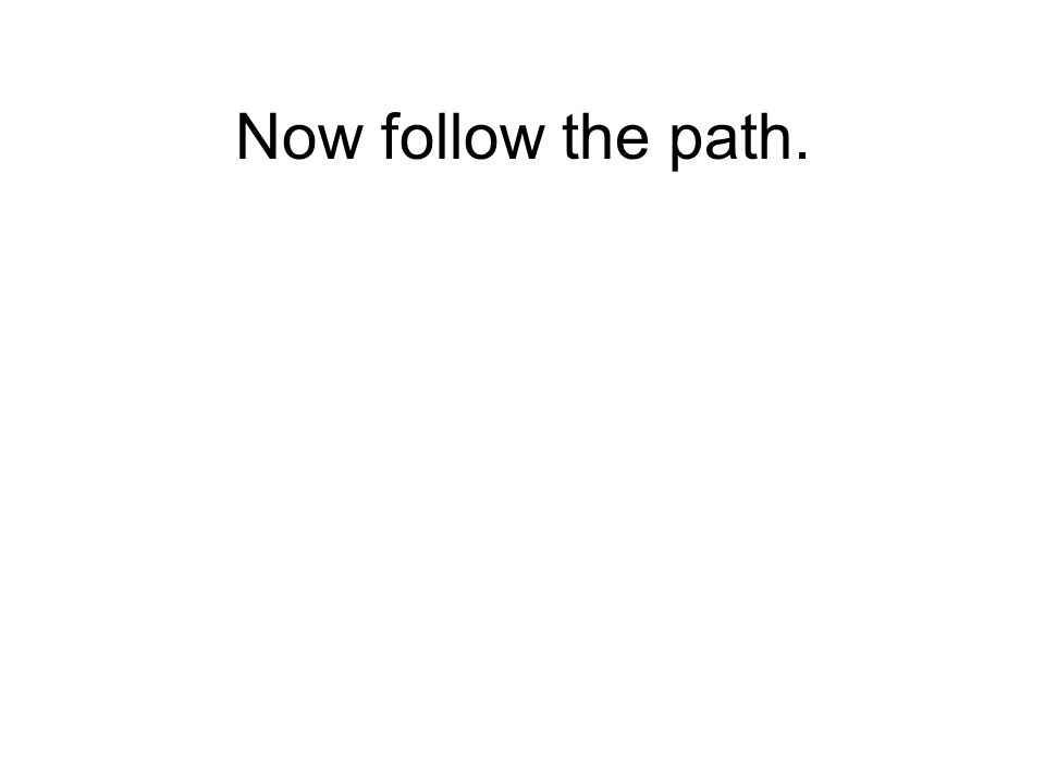 Now follow the path.