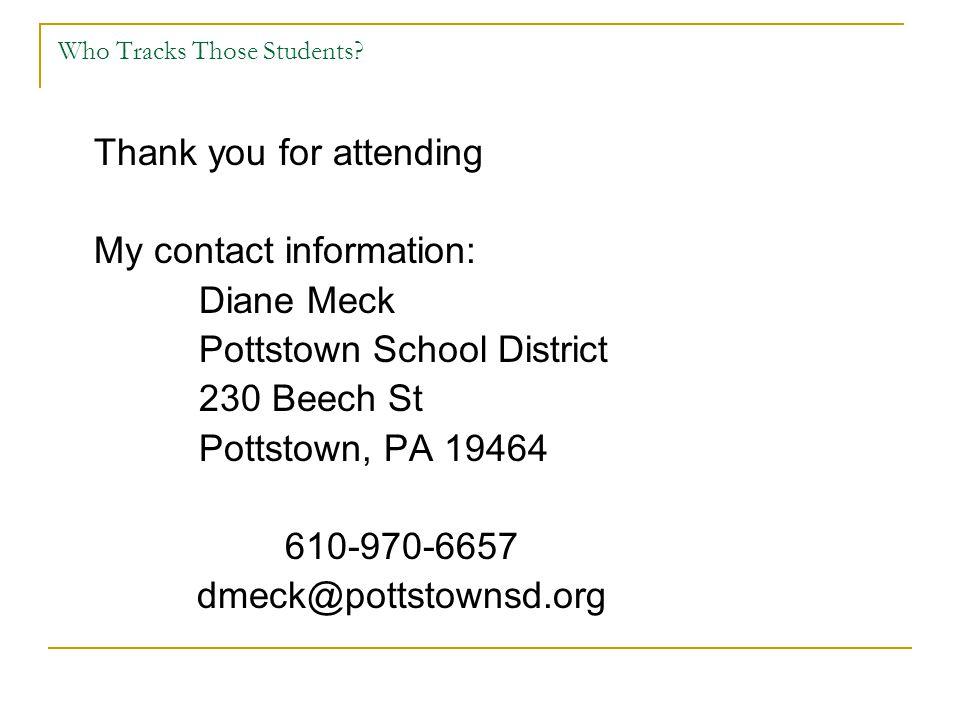 Who Tracks Those Students.