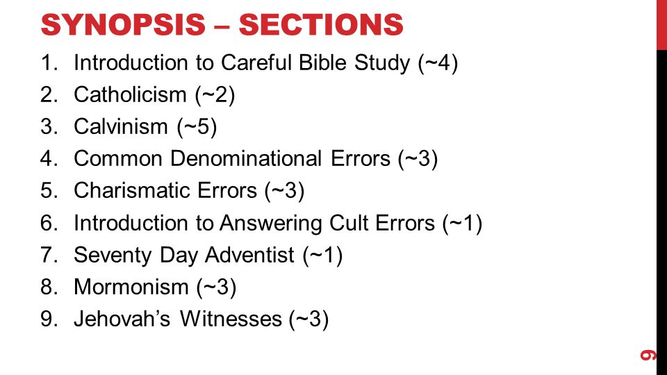 COMMON SENSE OBSERVATIONS Put Everything Together – Titus 1:1-3, 9; I Corinthians 14:33 60