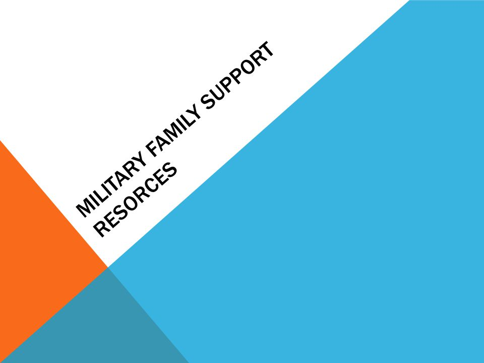 MILITARY FAMILY SUPPORT RESORCES