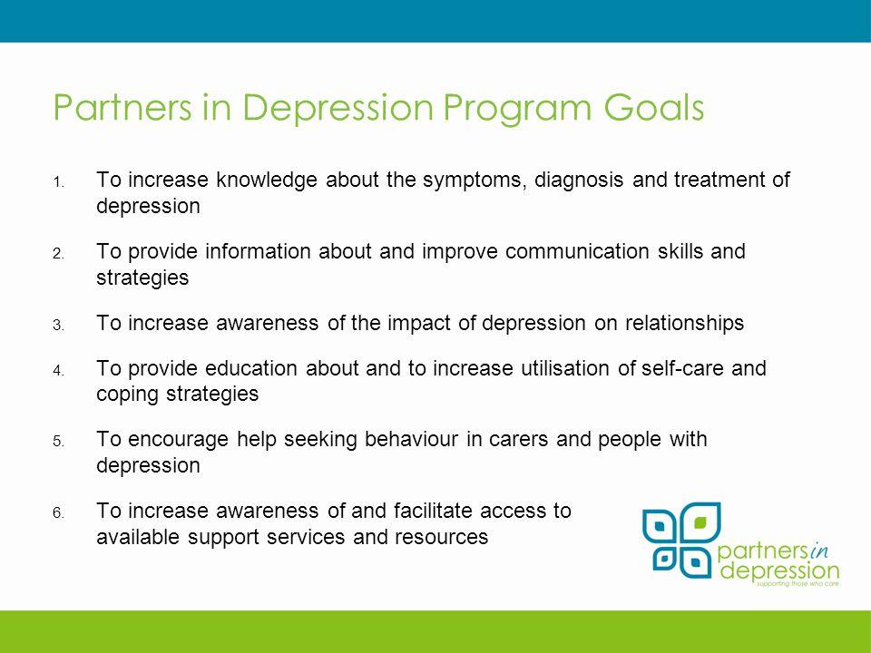 Partners in Depression Program Goals 1.