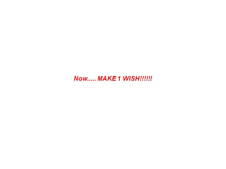 Now..... MAKE 1 WISH!!!!!!