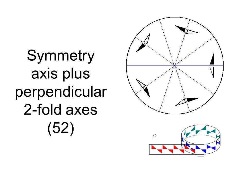 Symmetry axis plus perpendicular 2-fold axes (52)