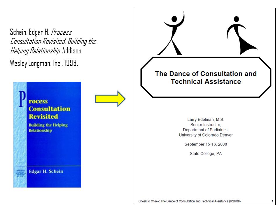 Schein, Edgar H. Process Consultation Revisited: Building the Helping Relationship. Addison- Wesley Longman, Inc., 1998.