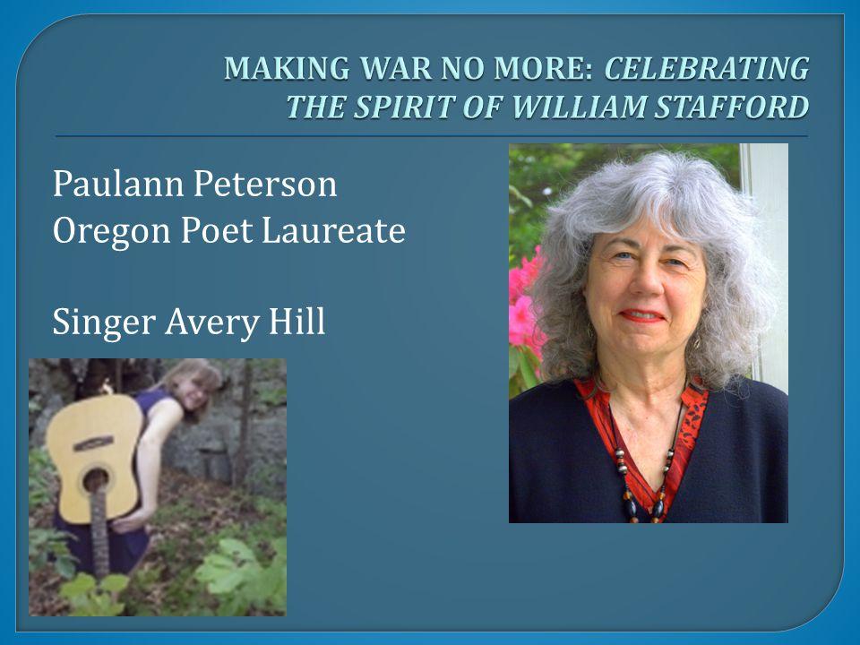 Paulann Peterson Oregon Poet Laureate Singer Avery Hill